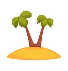 palms on sandy island vector image