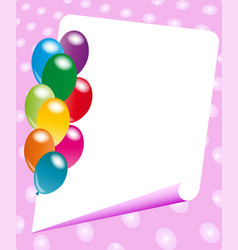 Party invitation frame vector