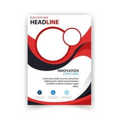 poster modern design red circle template im vector image