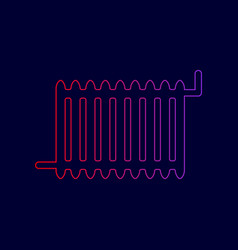 radiator sign line icon with gradient vector image