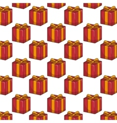 Red gift box background vector