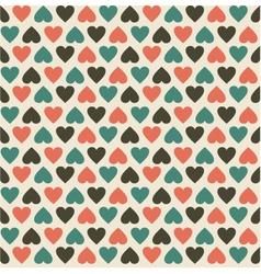 retro heart pattern vector image