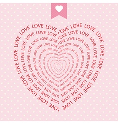 Romantic card52 vector image