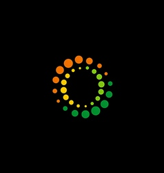 Round circle dot technology logo vector