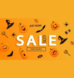 Sale banner for halloween vector