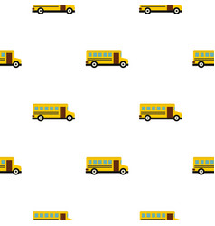 School bus pattern seamless vector