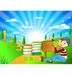 school children vector image