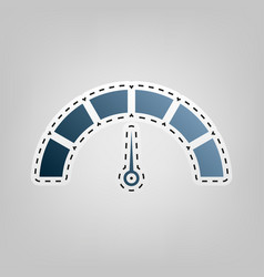 speedometer sign blue icon vector image