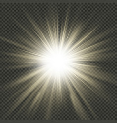 star burst rays effect eps 10 file vector image