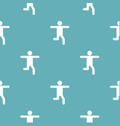 stick figure stickman pattern seamless vector image