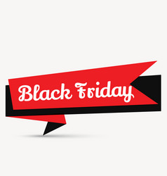 stylish black friday element design in red and vector image