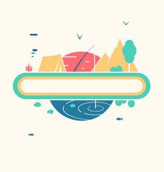 symbol landscape fishing vector image