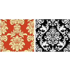 Two Damask Patterns vector image