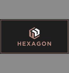 Uu hexagon logo design inspiration vector