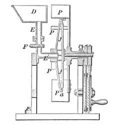 Vapor machine vintage vector