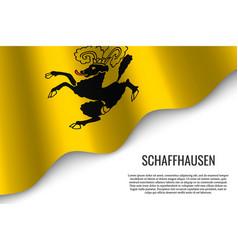 Waving flag region switzerland vector