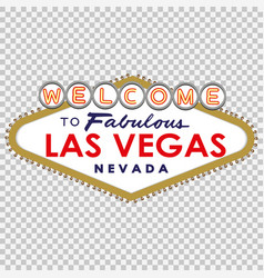Welcome to fabulous las vegas vector