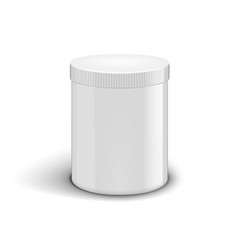 white plastic canister for powder or drugs vector image