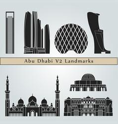 abu dhabi v2 landmarks vector image