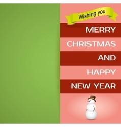 Merry Christmas postcard Happy holidays wish vector image vector image