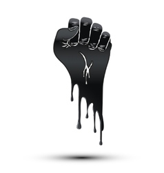 Symbol of clenched fist held in protest Paint vector image