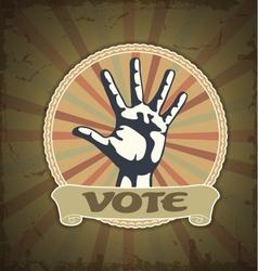 Symbol vote vector image