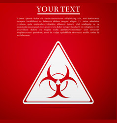 triangle sign with a biohazard sign flat icon on vector image vector image
