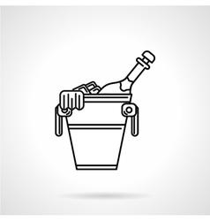 Champagne black line icon vector image vector image