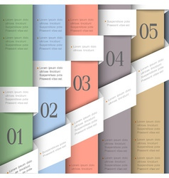 Creative paper numbered banners vector image