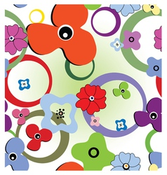 seamless abstract flowers vector image vector image