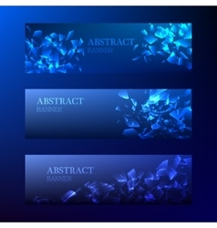 Set of Horizontal New Year Banners 2016 vector image