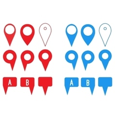 Set of map pointers flat icons vector image vector image