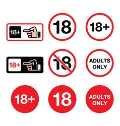 Under 18 adults only warning sign vector image vector image