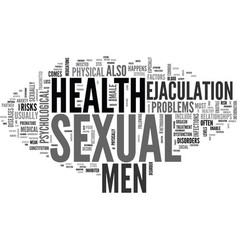 A guide to men s sexual health text word cloud vector