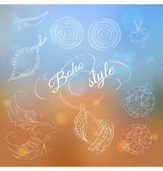 Boho jewelery set on abstract background vector image vector image