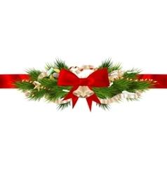 Christmas ribbon decoration EPS 10 vector image