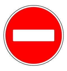 do not enter sign vector image vector image