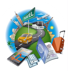 world travel concept vector image vector image
