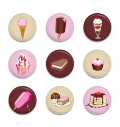 dessert buttons vector image