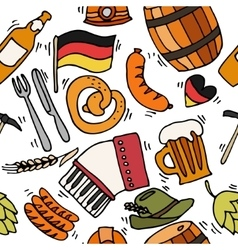 Germany travel pattern vector image vector image