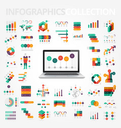 infographics design elements collection vector image vector image
