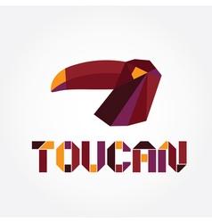 origami toucan vector image vector image