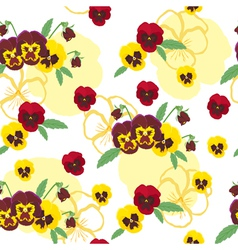 Pansies background vector image