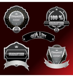 Set of labels and design elements vector image