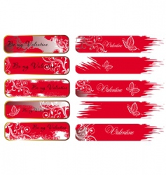 Valentine's banners vector image vector image
