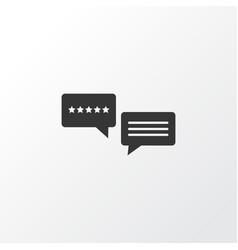 5-star review icon symbol premium quality vector image