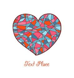 Abstract heart design vector