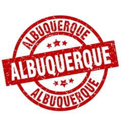 Albuquerque red round grunge stamp vector