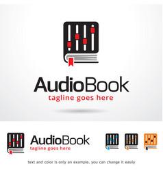 Audio book symbol template design vector