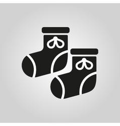 Babys bootees icon design Socks sox symbol web vector